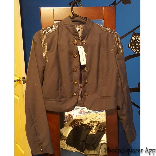 Grey Military Style Jacket BNWT