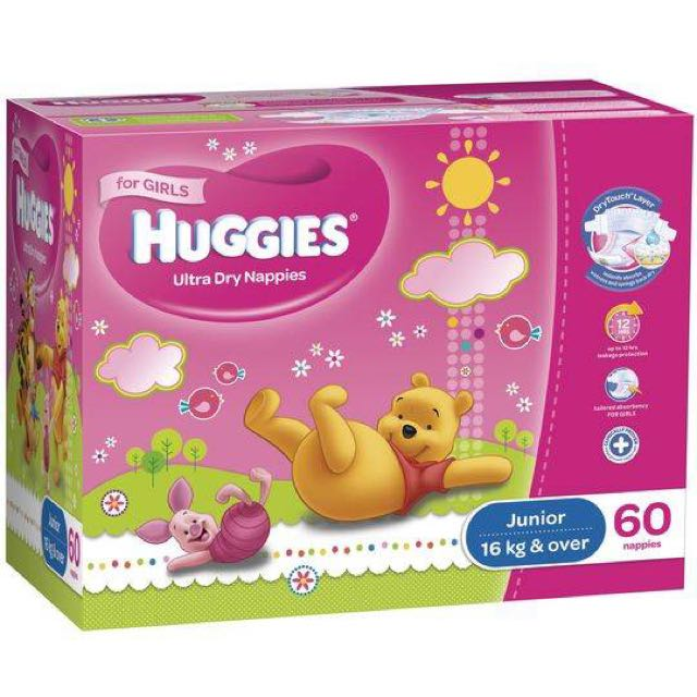 Huggies Nappies  Junior Girls