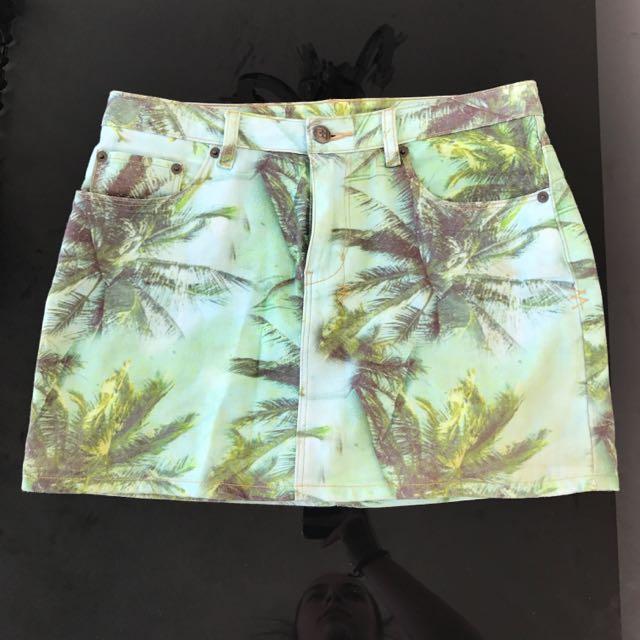 Ksubi Mint Moto Skirt Paradise Size 27