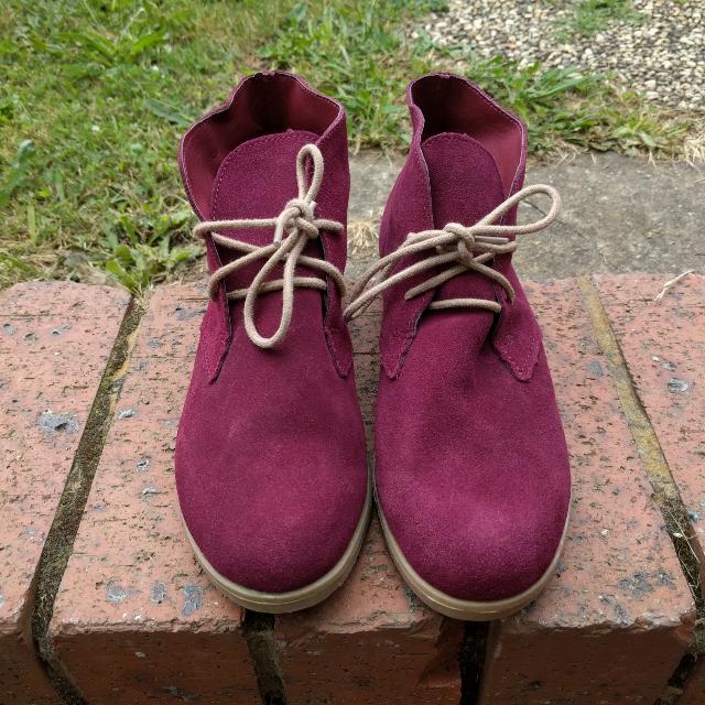 Kustom Maroon Shoes