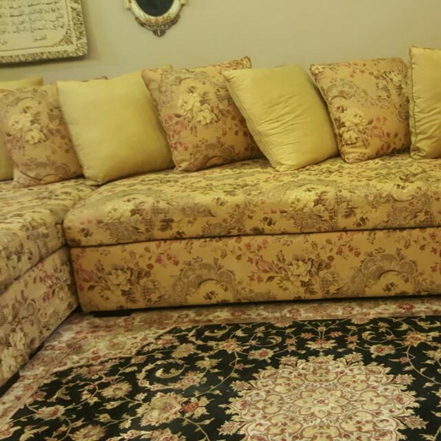 L- Shaped Sofa, King Koil Brand