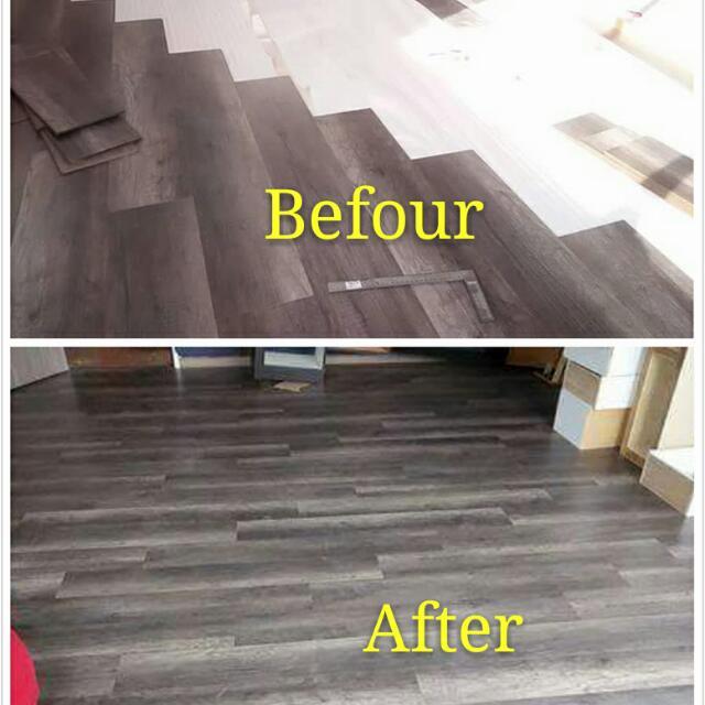 Laminate Flooring Lantai Kayu Vinyl Flooring Wallpaper