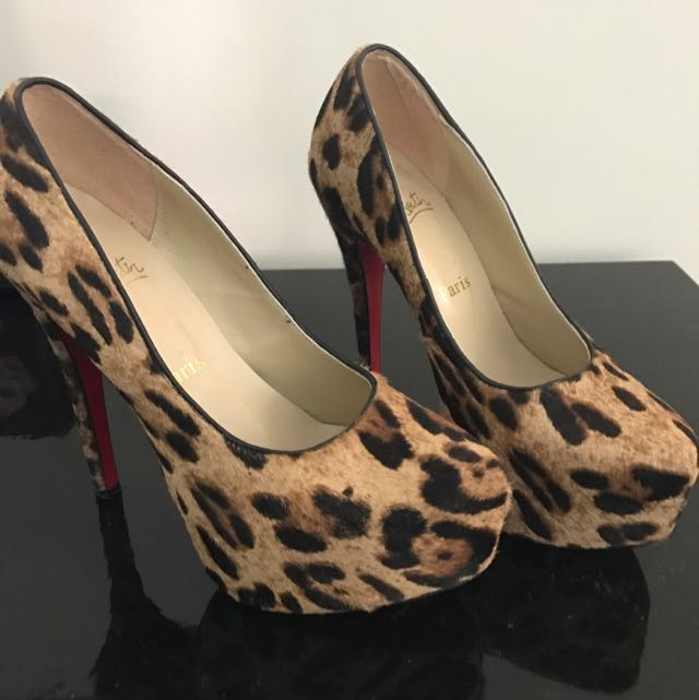 Leopard Print and Leather Pumps