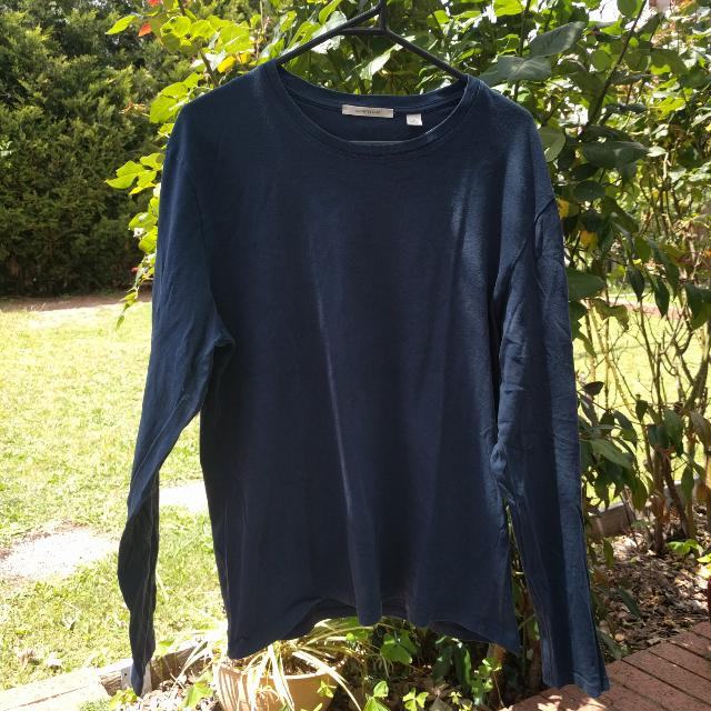 Men's Navy Cotton On Long Sleeve Top