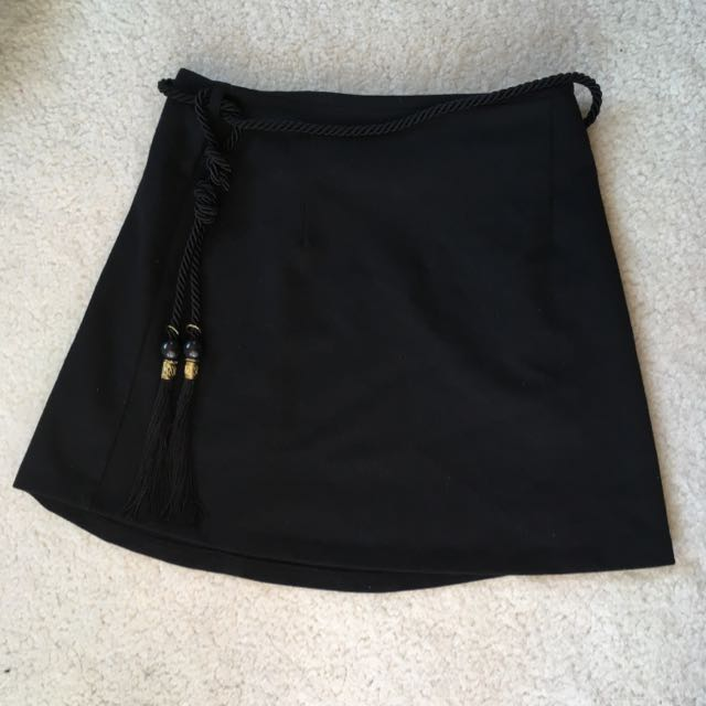 Mini Skirt With Belt Detail