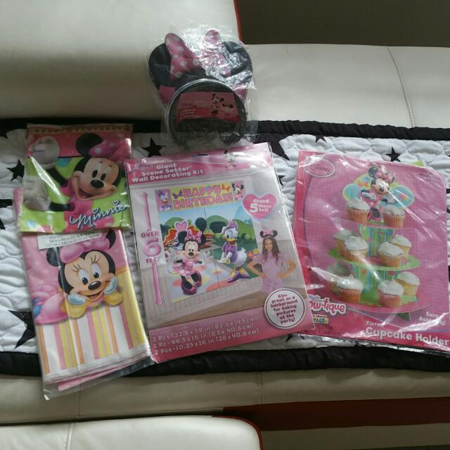 Minnie Mouse Party Decoration On Carousell