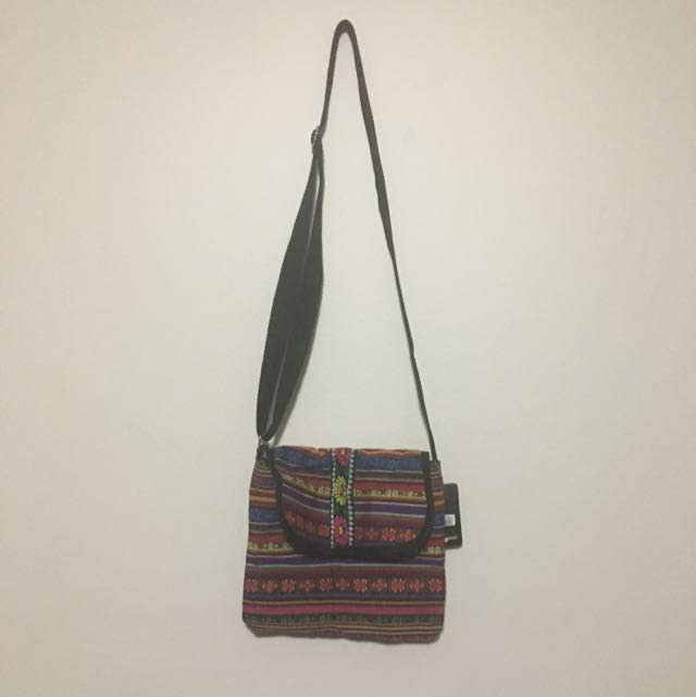 Mulitcoloured Accessorise Bag With Long Adjustable Strap