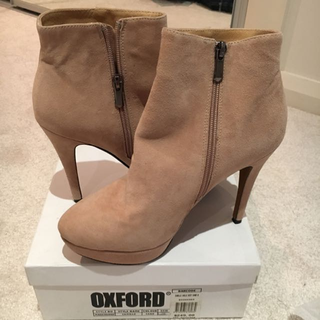 (NEW) Oxford Ankle Boots - Size 8