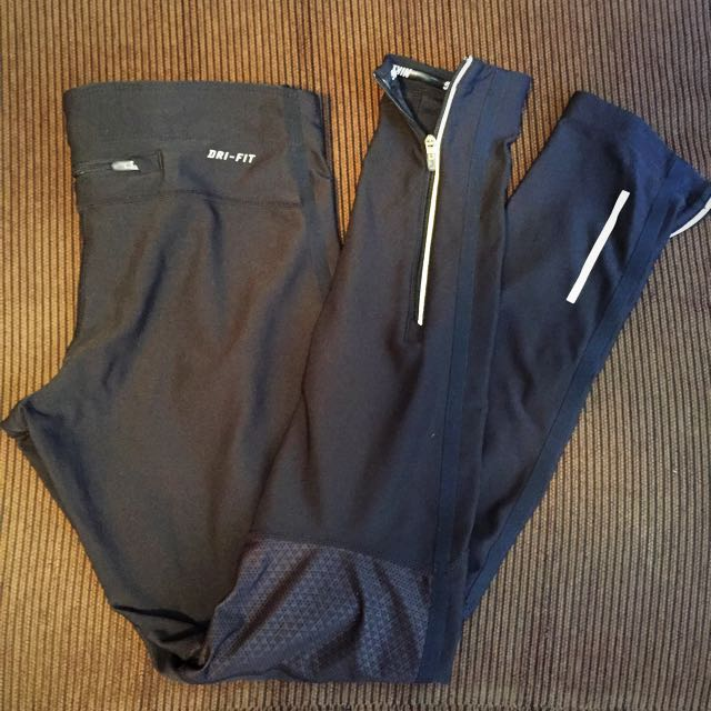 Nike black full length tights