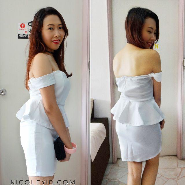 Off-Shoulder Peplum Dress