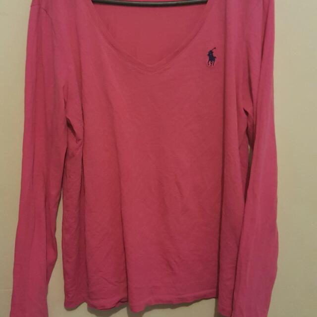 Pink Ralph Lauren Long Sleeve Shirt Size M