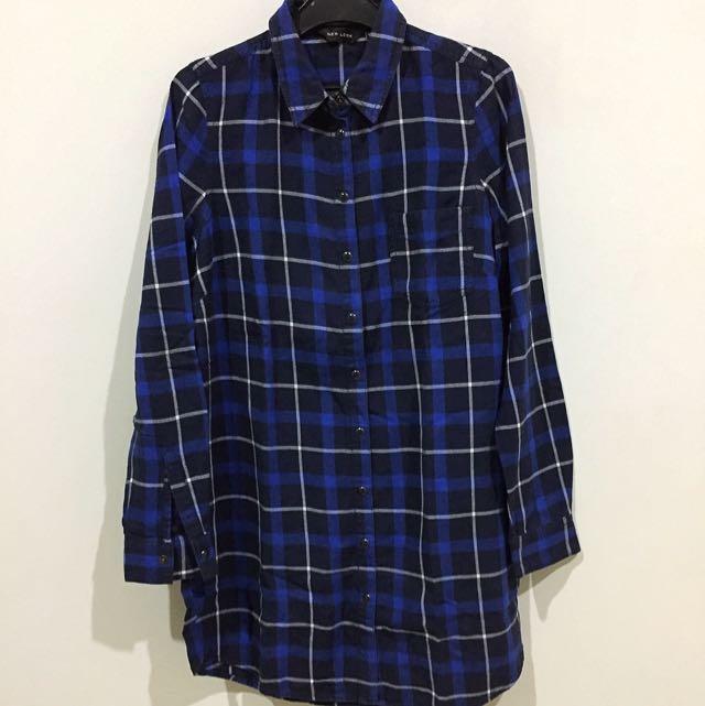 New Look plaid shirt - kemeja kotak panjang