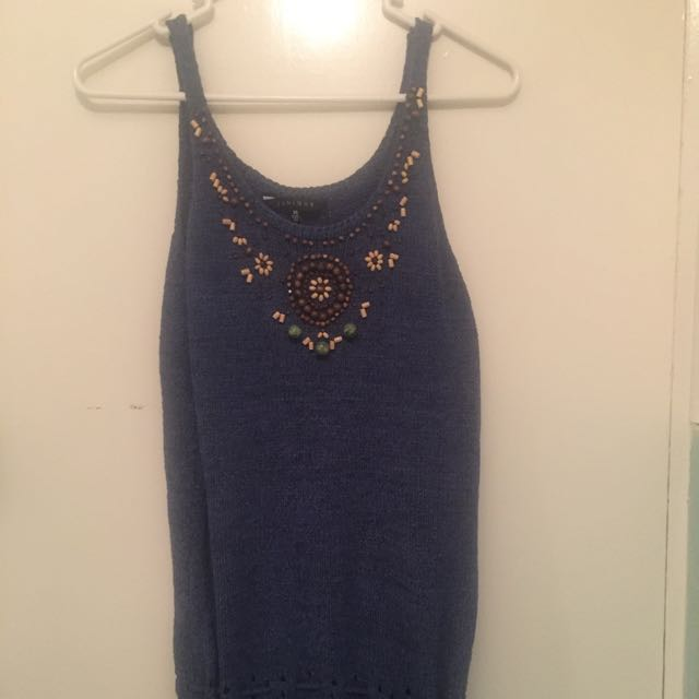 Pretty Summer Top With Beadwork
