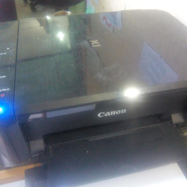printer Canon MG 3170 Lampu Ngeblink