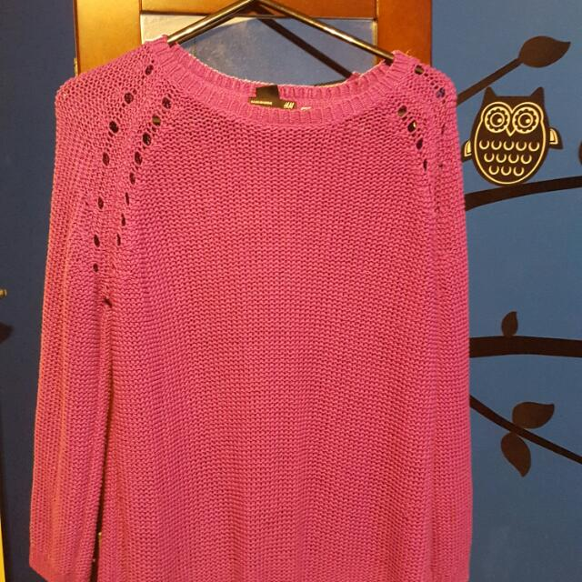 Purple H&M Knit Sweater/jumper XS