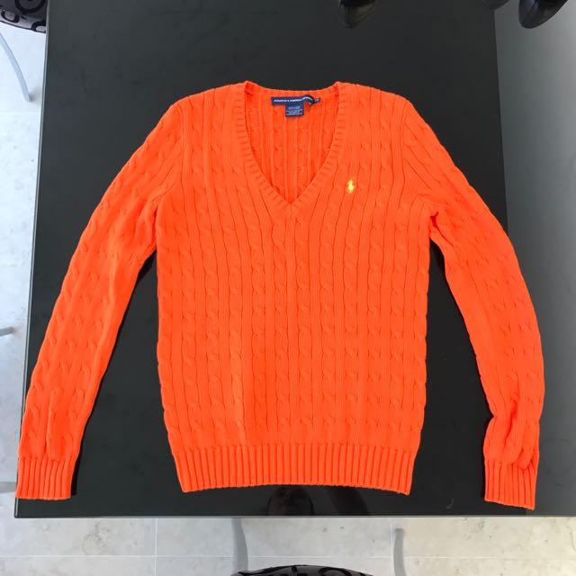 Ralph Lauren Sport Medium Orange Tennis Jumper