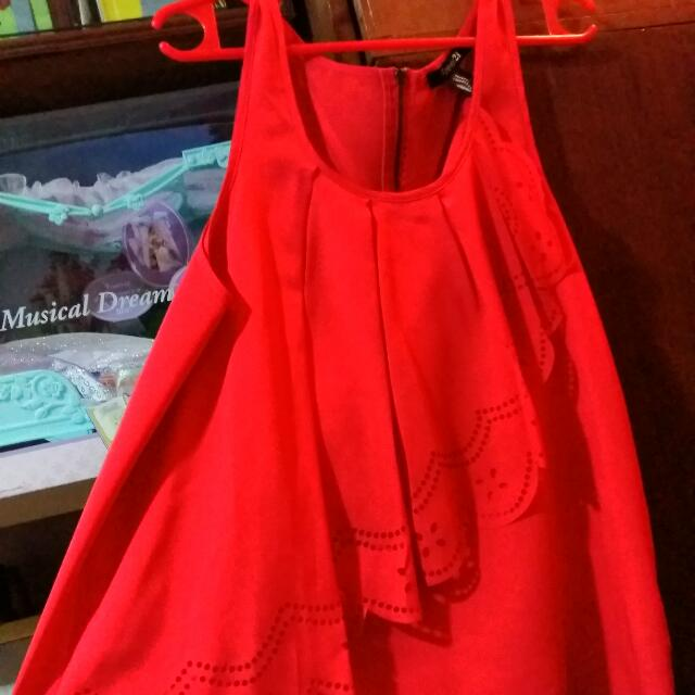Red Orange F21 Top