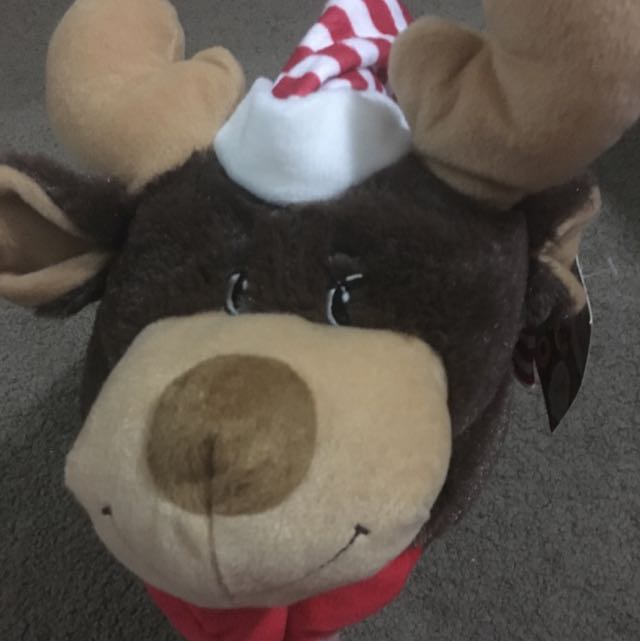 Reindeer Foldable Plush Cushion Musical