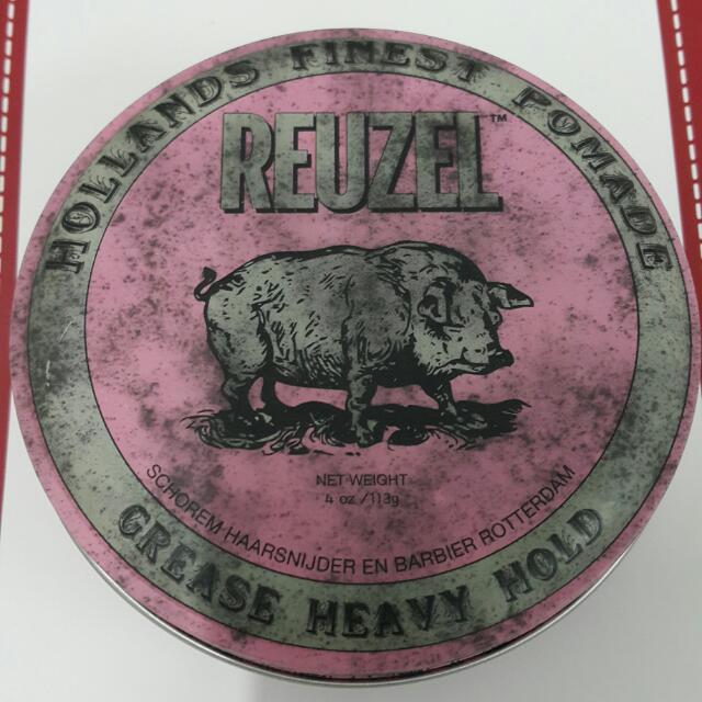 (暫售)REUZEL粉紅豬油 水洗式油性髮油 ※油頭必備