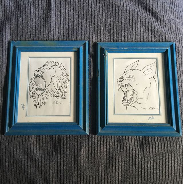 Set Of Sketches In Frames