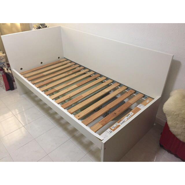 Ikea Single Bed Set Flaxa Frame Sultan Lade Hovag Home Furniture Mattresses Frames On Carou