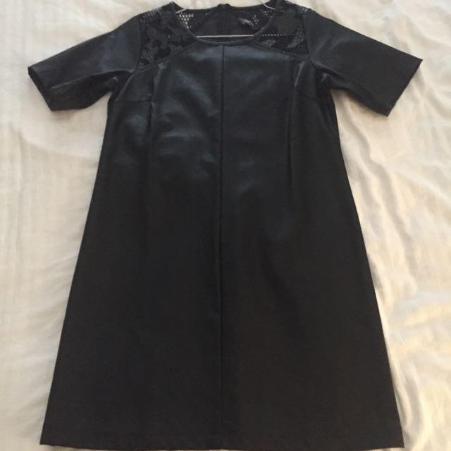 Size S Zalora Pleather Dress
