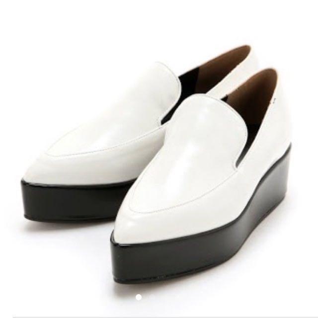 SLY白色厚底鬆糕鞋(水原希子日劇失戀巧克力職人第九話著用款)