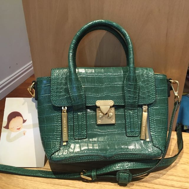 Star Town Green Handbag