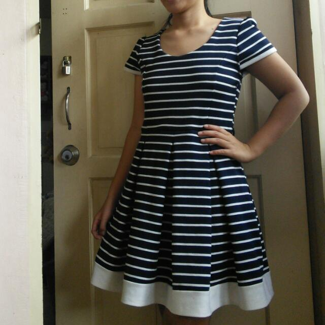 Stripe Whole Dress