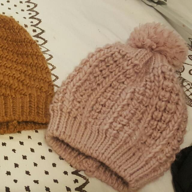 Tan Knited Beanie