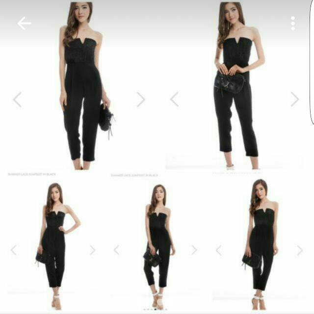 5d307263c6d TCL THE CLOSET LOVER BLACK SUMMER LACE JUMPSUIT