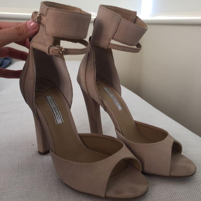 Tony Bianco Nude Ankle Strap Heels