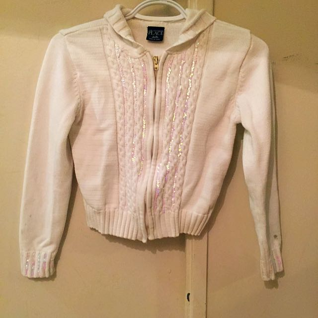 White Hooded Girls Sweater (10/12)