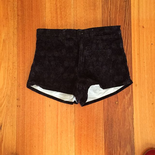 WRANGLER VELOUR HIGH CHEEKY SHORTS