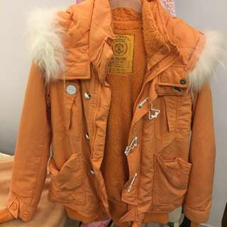 🚚 仿單 Sly N3b 橘色 毛毛 橘色 外套