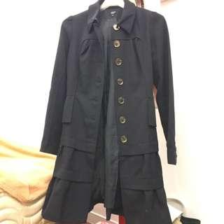 iroo  長版 荷葉 外套