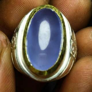 Natural Agates Ring Blue