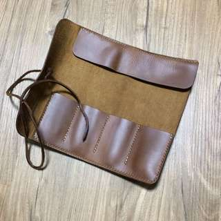 Handcrafted Leather Pencil Roll