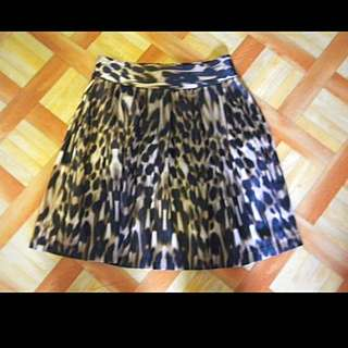 Leopard Print A-Line Skirt Size Small