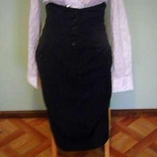 OJAY High Waisted Button-up Skirt
