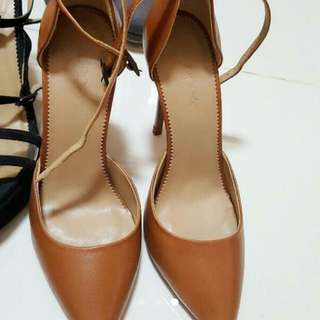 Gucci Heels Brown Leather