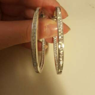 Radiance With Swarovski Crystal Large Hoop Earrings