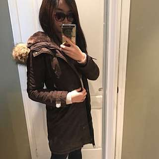 *Price drop*ARITZIA TNA Knee-length Brown Parka-S/M