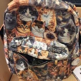 Hater 滿版貓咪 後背包