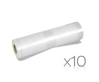 Set of 10 Vacuum Food Sealer Storage Rolls 6m x 22cm