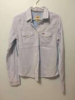 Hollister light blue shirt