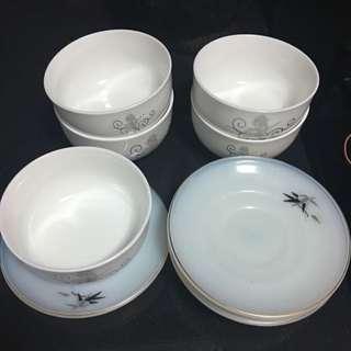 A Set Of Ceramic Bowl + Plate