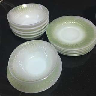 Ceramic Bowl With Plate Sets In 6