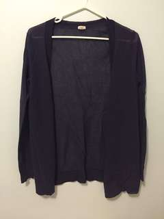 JCrew dark blue/purple cardigan