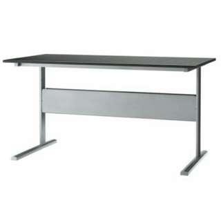 Ikea Fredrik black/silver study computer desk table